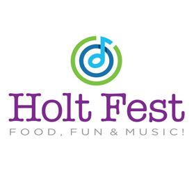 Holt Fest Logo, text with music note