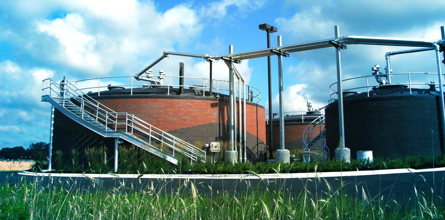 picture of wastewater treatment plant