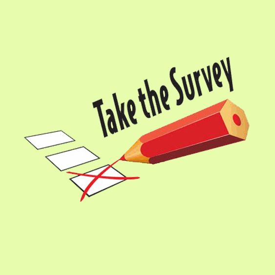 Take the Survey text with picture of pencil and check boxes